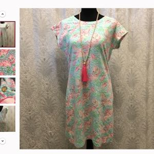 Westerly Lobsta Roll Blue Pink Lilly Pulitzer Dres